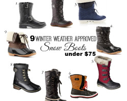 Winter Weather Approved Snow Boots under $75