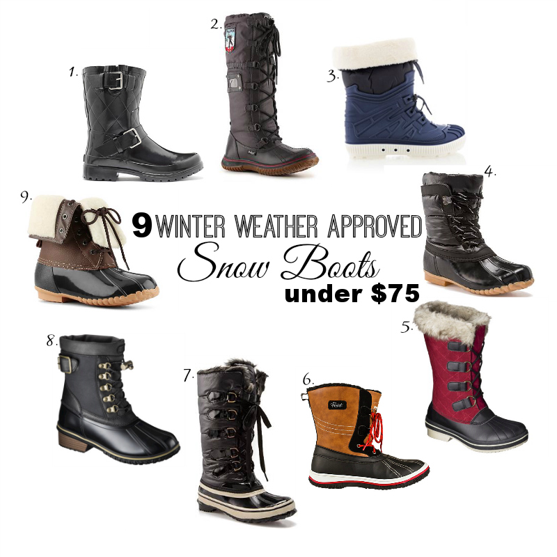 Winter Weather Approved Snow Boots under $75 | Kinks are the new Pink