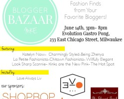 Shop My Closet at the Milwaukee Blogger Bazaar
