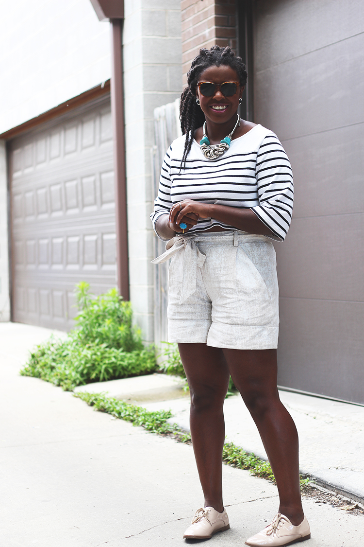 summer shorts for curvy women