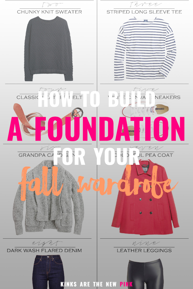 my simple 3-step process for building a foundation for your fall wardrobe #fallfashion