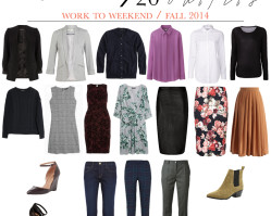 work to weekend | 20 pieces / 20 outfits