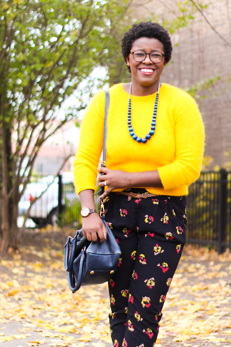 Sunny Side Up | Angora Sweater   Floral Print | Kinks are the new Pink