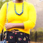 Sunny Side Up | Angora Sweater + Floral Print