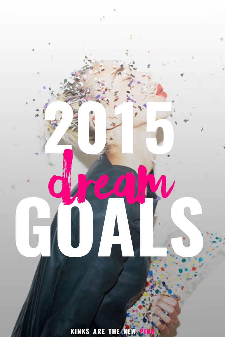 Dream goals and the action steps to achieve them
