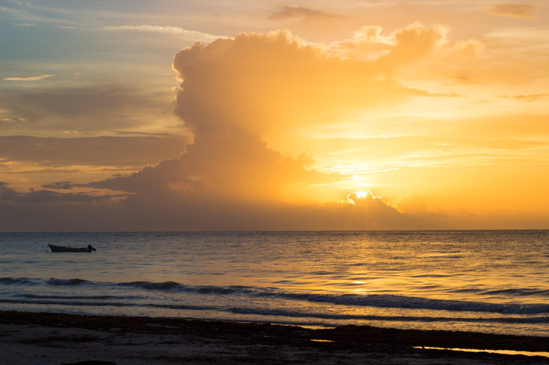 tulum honeymoon sunrise